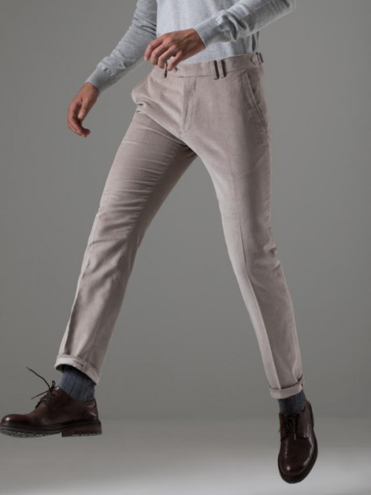 Pantalón chino slim fit teja