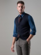 Americana slim fit efecto denim