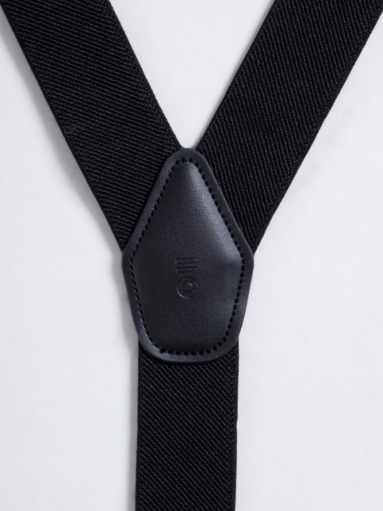 BLACK PLAIN SUSPENDERS