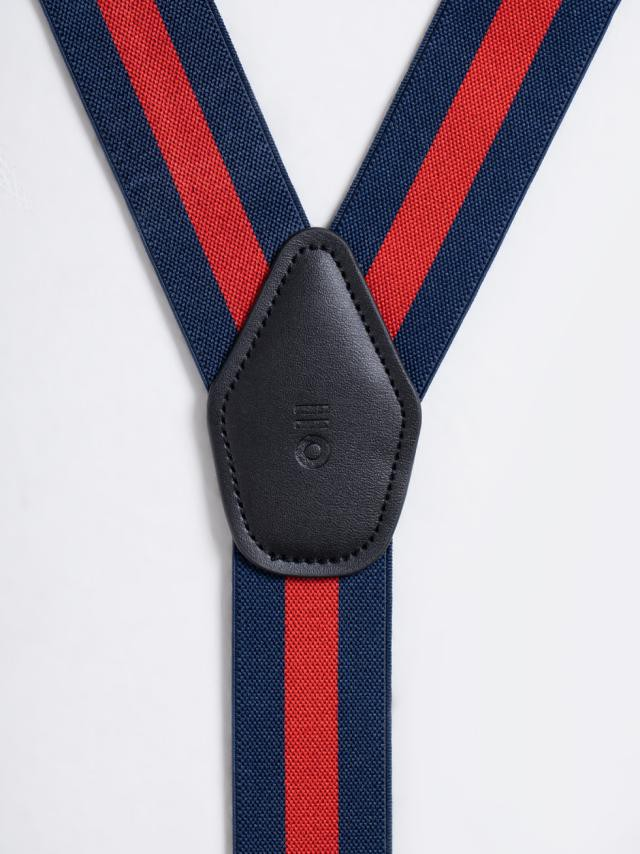 RED STRIPED SUSPENDERS