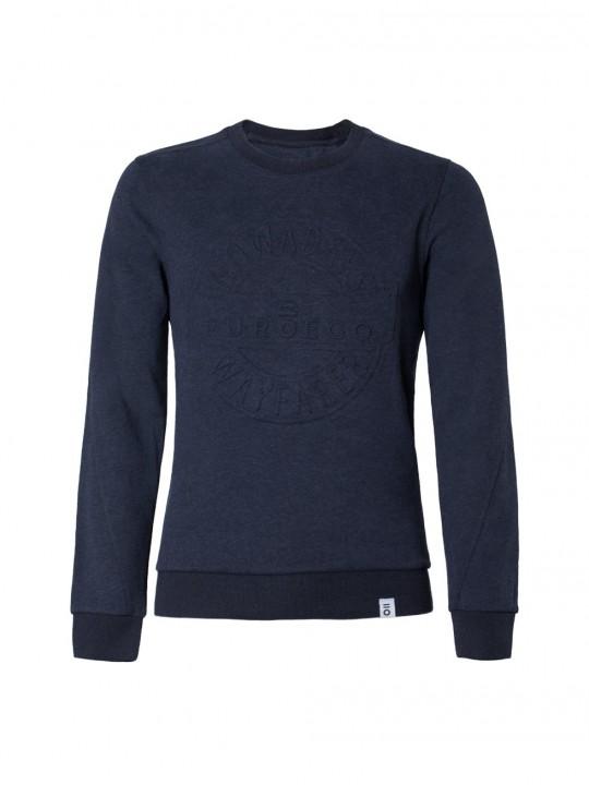 Camisa slim fit motivo geométrico azul