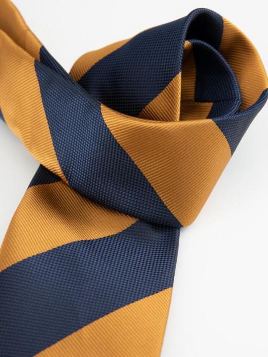 Corbata estampado geométrico azul marino