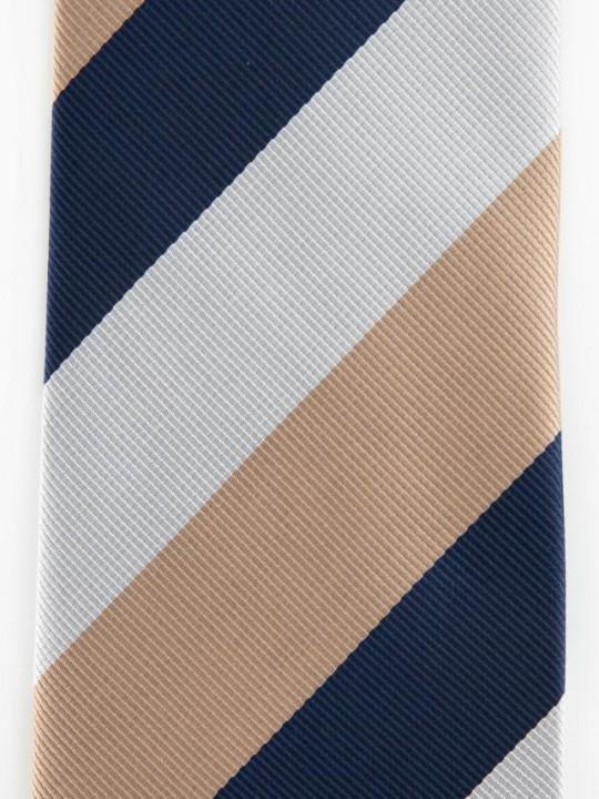 PuroEGO Corbata estampado geométrico combinado azul