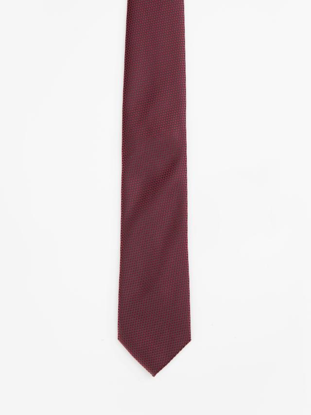 Burgundy Jacquard-weave tie
