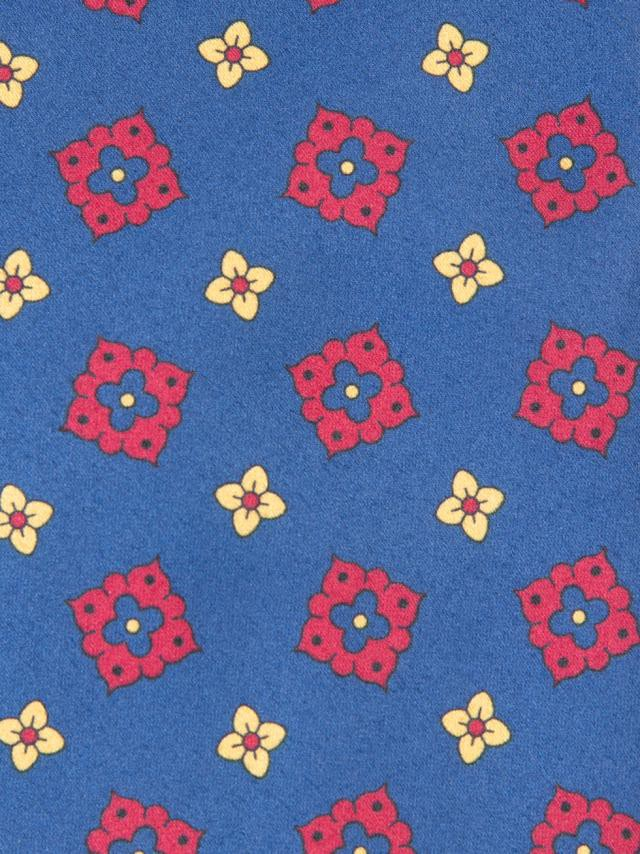 Blue Tie with floral pattern design