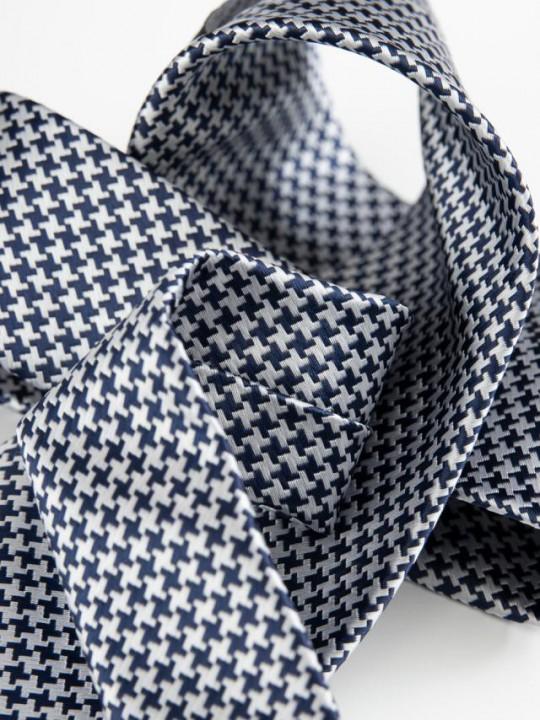 Black&White Dobby-weave tie