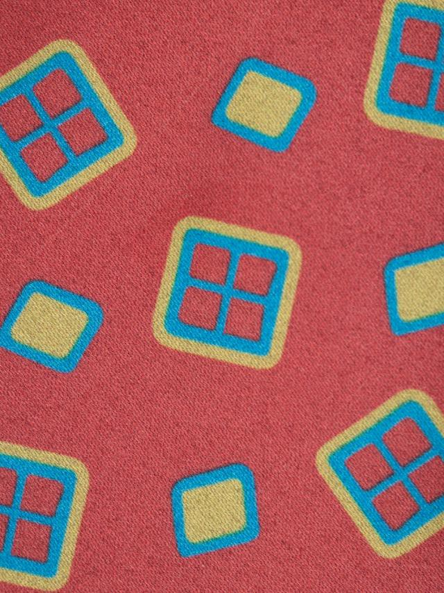 Red Tie with geometric pattern design