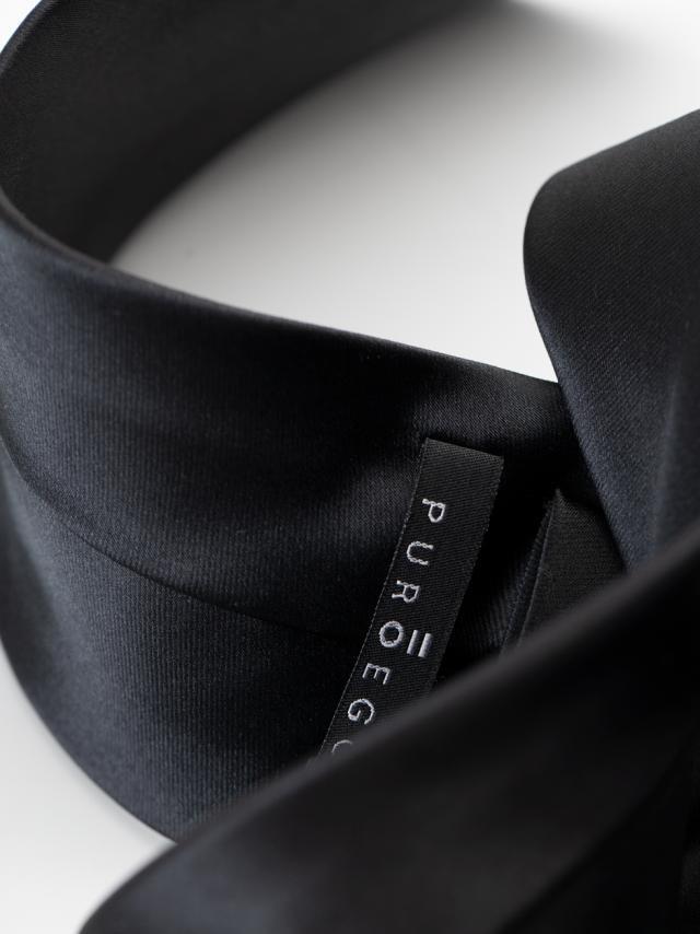 Plain Black Tie