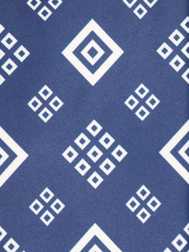 Navy Tie with geometric pattern design