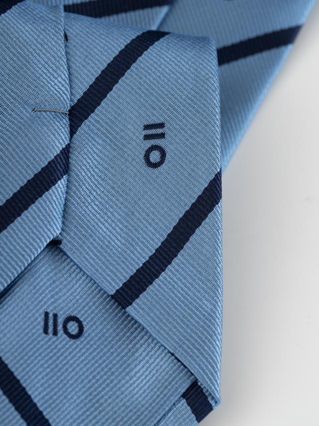 Sky Blue regimental tie with PuroEGO logo