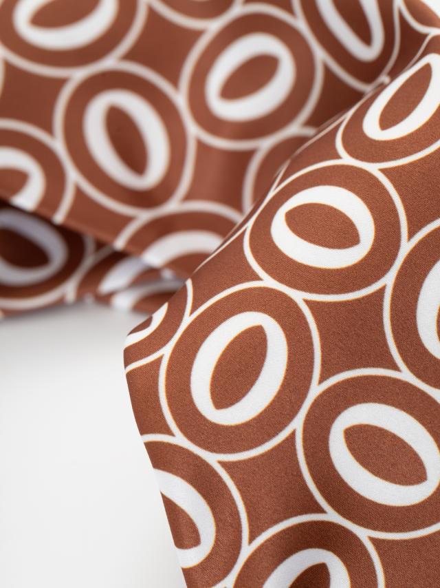 Corbata caramelo print geométrico