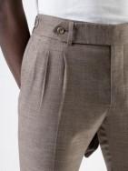 PuroEGO Pantalón chino slim fit azul khaki