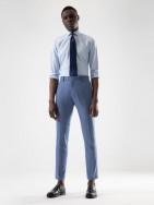 PuroEGO Camisa slim fit motivo círculos azul