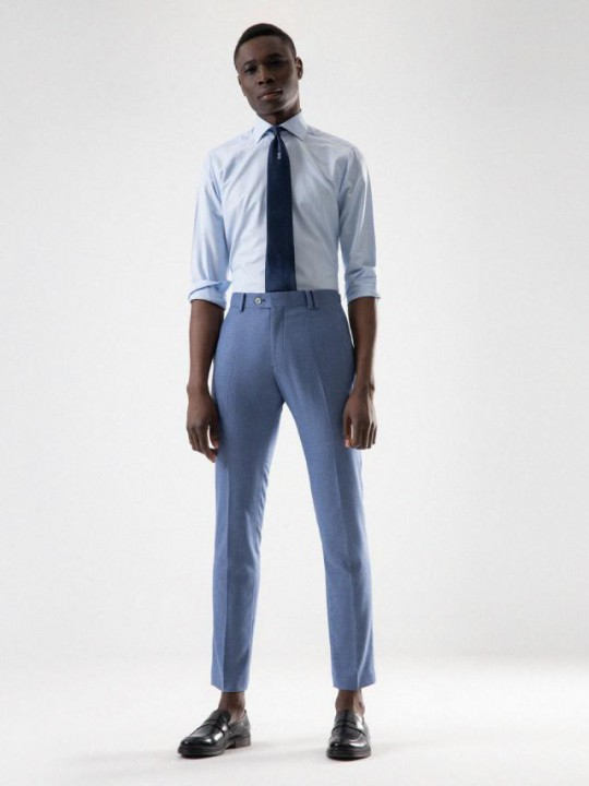 HOUNDSTOOTH SKY BLUE / BLUE TROUSERS