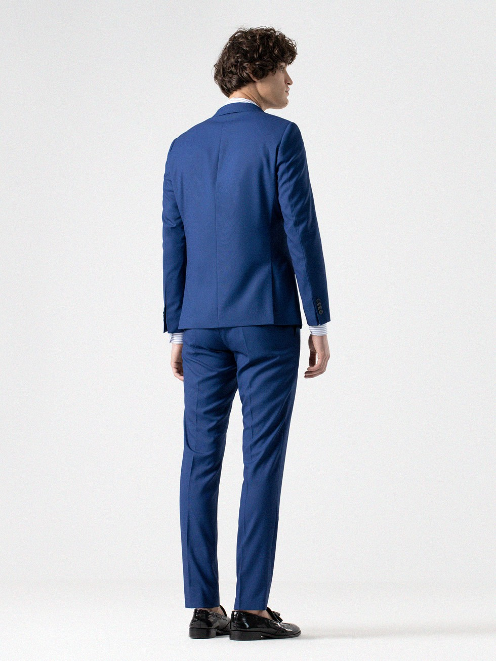 NAILHEAD DOBBY-WEAVE INK BLUE SUIT