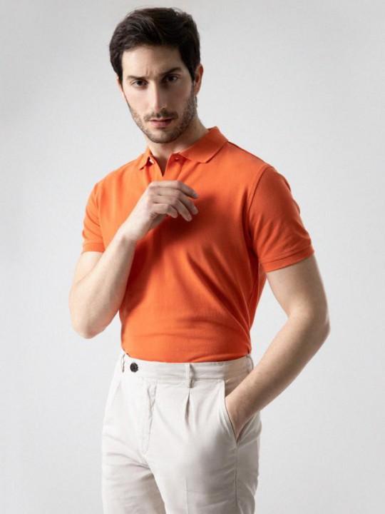 PuroEGO Camisa slim fit blanca estampado motivos bicolor