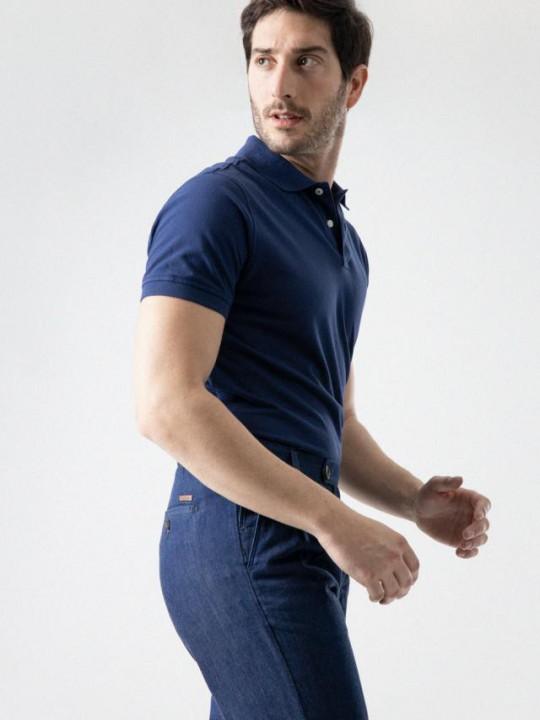 Camisa slim fit motivo vivo contraste