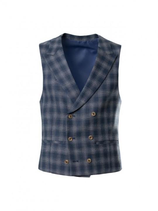 PuroEGO Camisa slim fit estampado flores azul