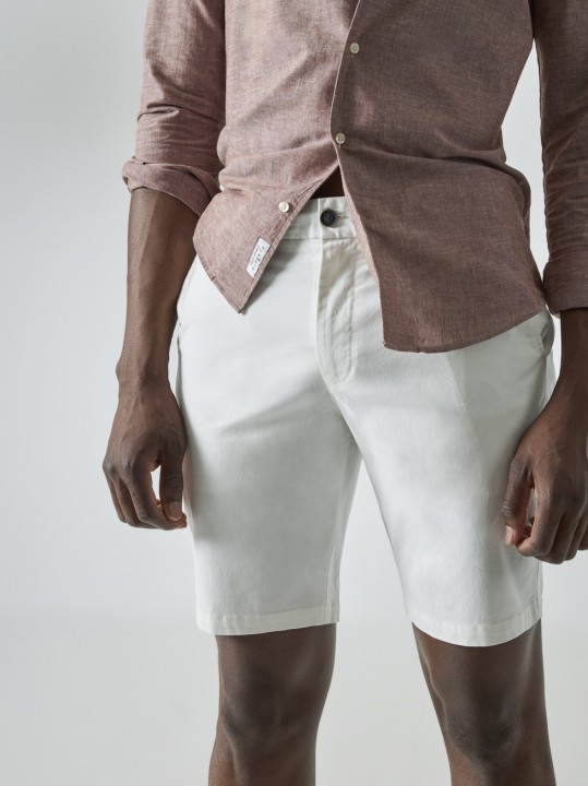 PuroEGO Pantalón chino slim fit crudo