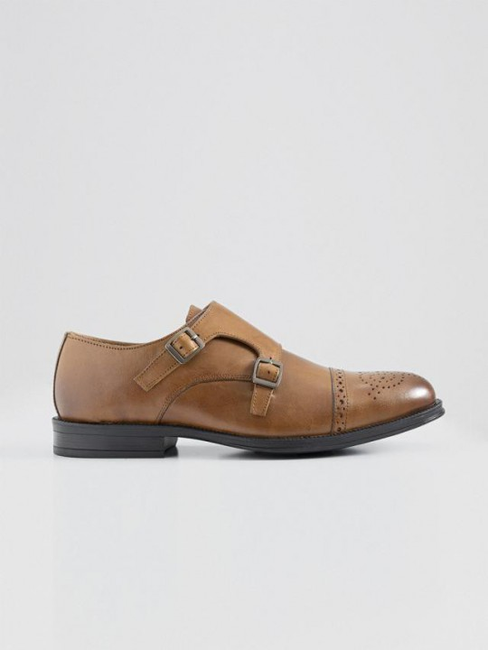 BROWN DOUBLE-MONKSTRAP SHOES