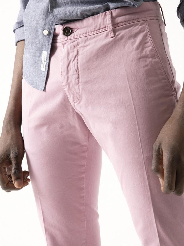 PALE PINK GARMENT-DYED CHINO PANTS