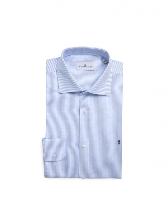 SKY BLUE STRIPED OXFORD SHIRT