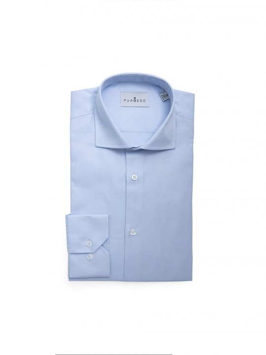 SKY BLUE TWILL BASIC FORMAL SHIRT