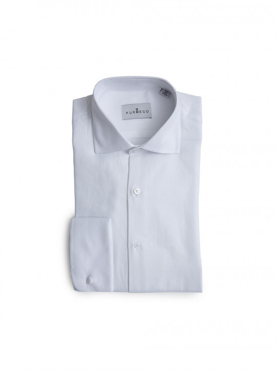 WHITE DOUBLE-CUFF SHIRT