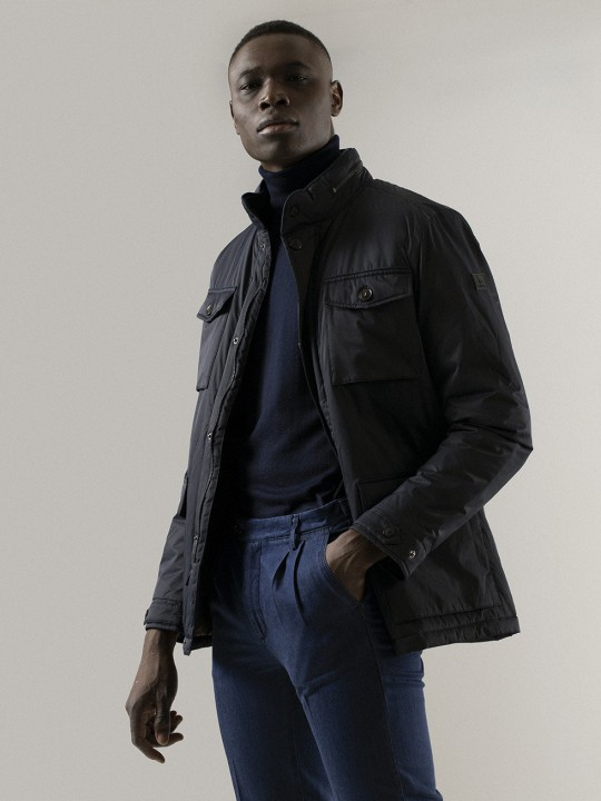 NAVY SMART-TRAVEL JACKET