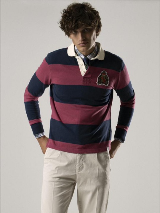 BLUE/MAGENTA RUGBY POLO