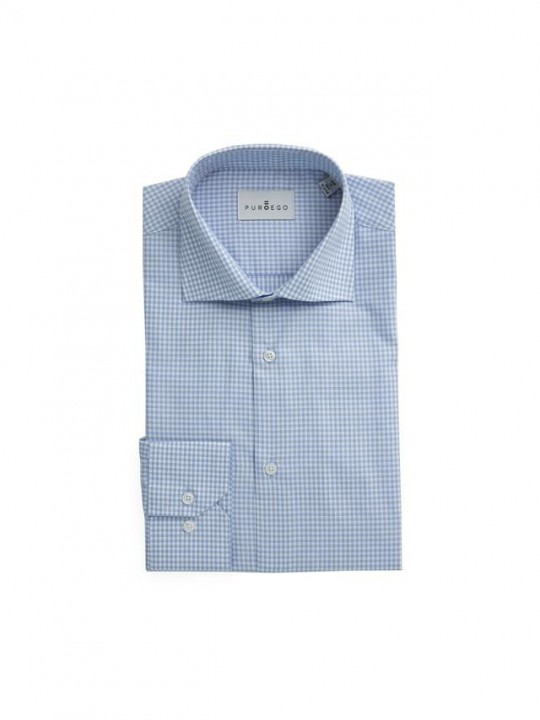 SKY BLUE GINGHAM SHIRT