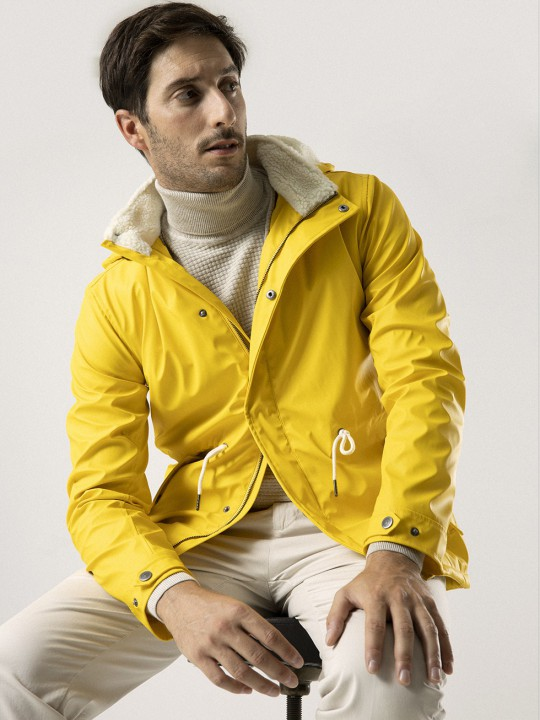 BRIGHT YELLOW WATERPROOF JACKET