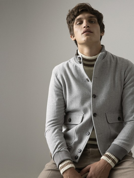 LIGHT GREY CLOTH JACKET