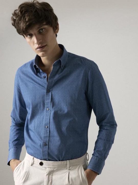 JACQUARD DENIM SHIRT