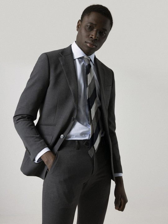NON IRON WASHABLE CHARCOAL SUIT