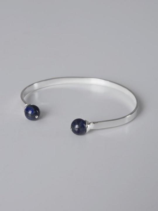 SILVER BRACELET BLUE NATURAL STONES