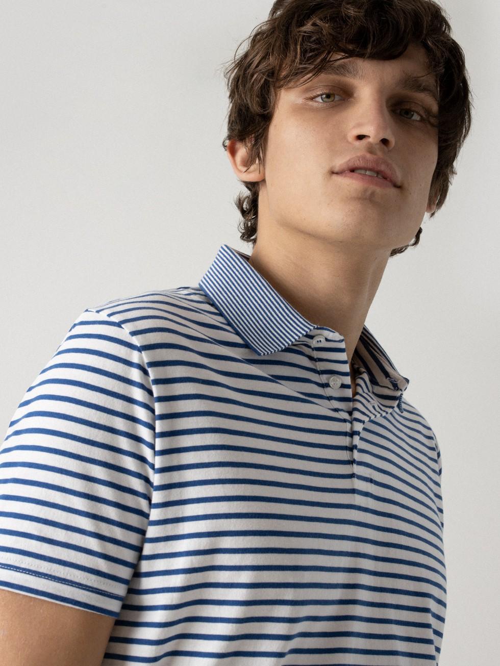 POLO RAYAS AZUL