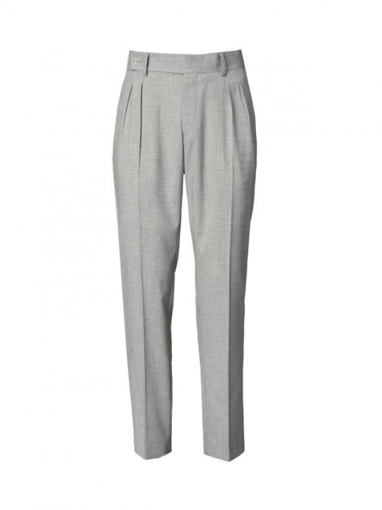 LIGHT GREY DOUBLE PLEATED TROUSERS
