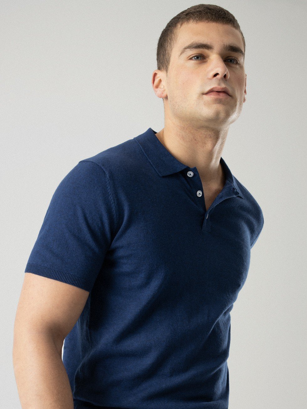 INK BLUE KNIT POLO