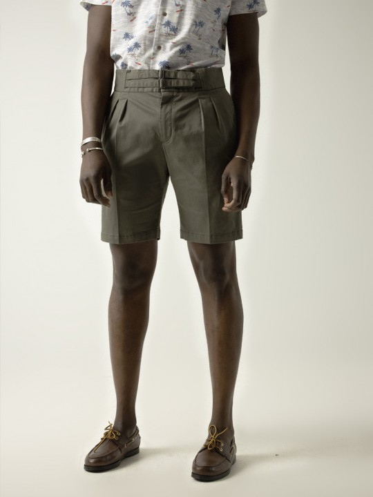 LIGHT KHAKI ARMY SHORTS