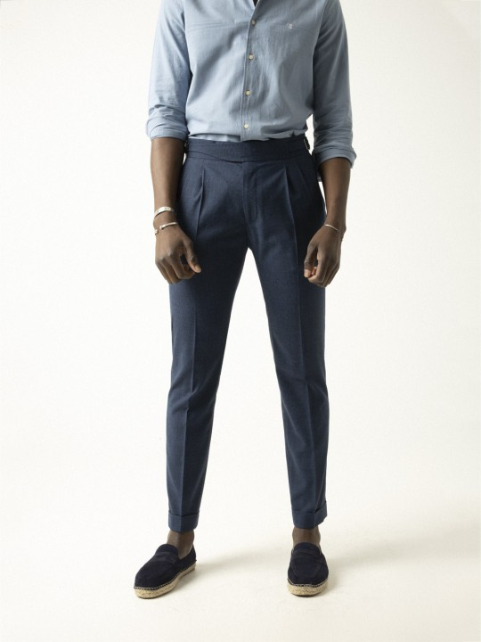 NAVY GURKHA TROUSERS