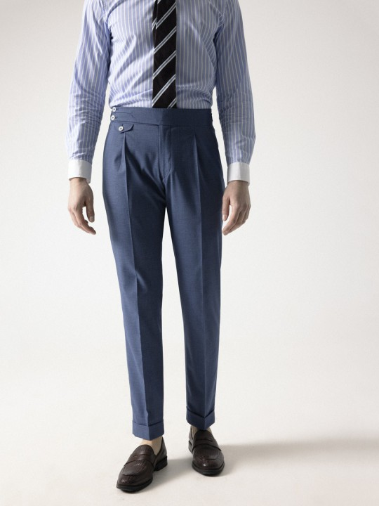 BLUE HOUNDSTOOTH TROUSER