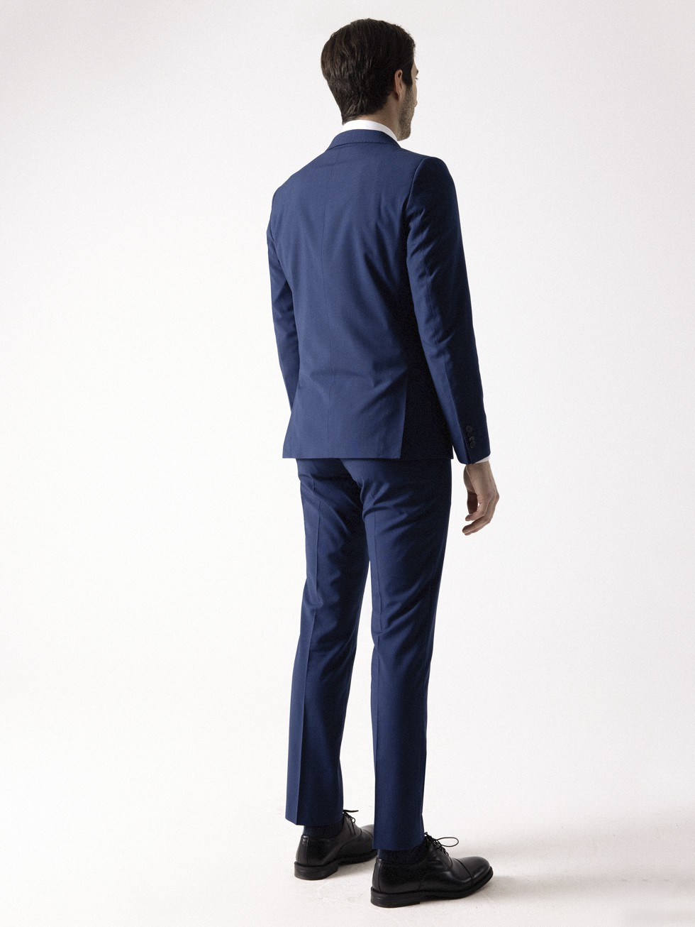 MICRO-TATTERSALL PLAID INK BLUE SUIT