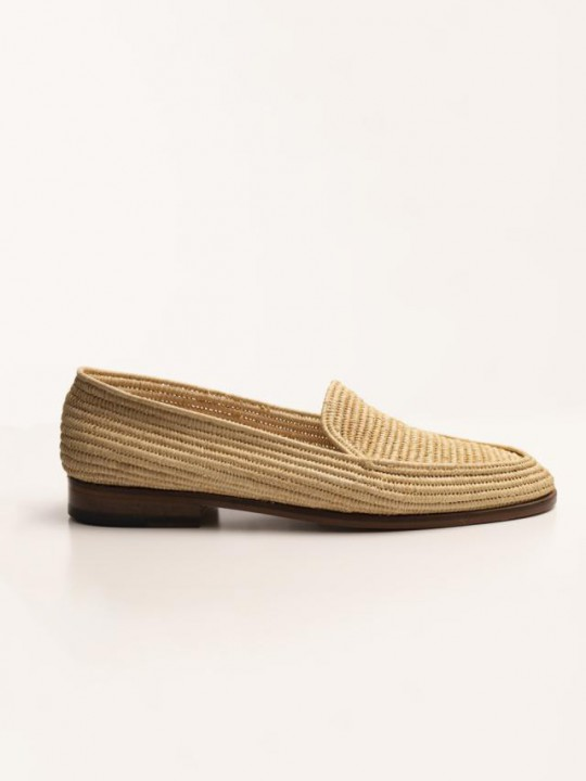 NATURAL RAPHIA LOAFER