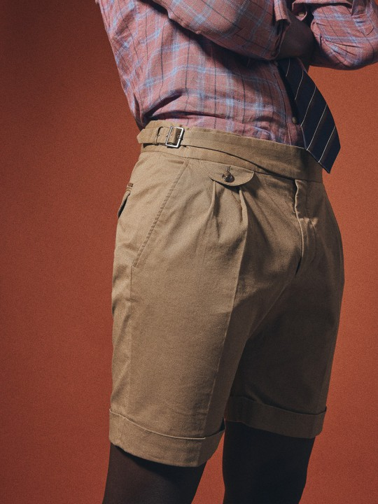 SAND GURKHA COTTON SHORTS