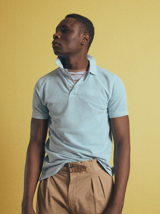 DYED TURQUOISE POLO