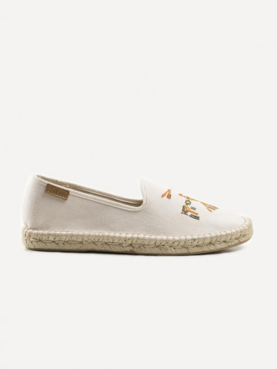 NATURAL EMBROIDERY ESPADRILLES