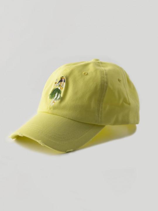 LIGHT YELLOW HAWAII CAP