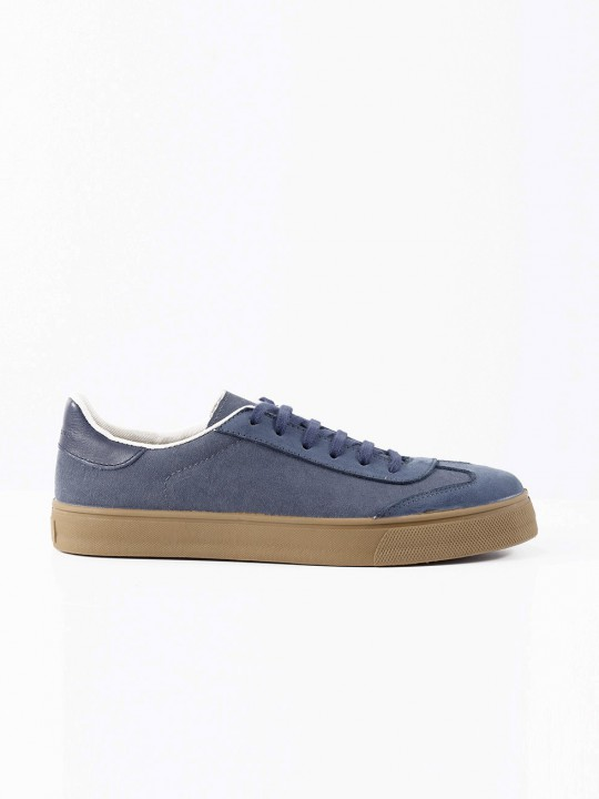 BLUE CANVAS/SUEDE SNEAKERS