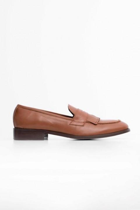 Zapato tassel piel flecos cuero